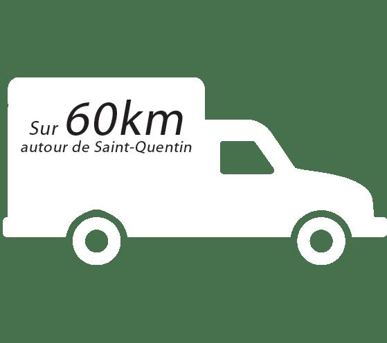 Sur 60km autour de Saint Quentin (Noyon, Bohain, Vervins, Chauny, Tergnier)